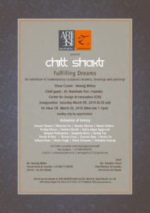 Chitt Shakti - Fulfilling Dreams An exhibition of contemporary sculptural ceramics, paintings and drawings Show Curator : Mr. Neerajj Mittra